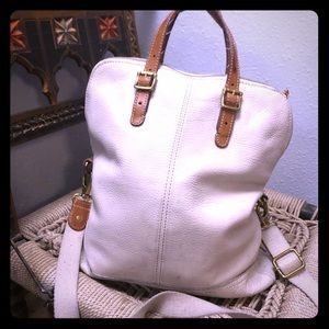 Extra Large Fossil Crossbody Leather Bag